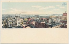 Bird's Eye View, New Orleans, LA Louisiana - Early DETROIT PUBLISHING Postcard