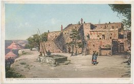 Hopi Indian House, Grand Canyon of Arizona AZ - Early 1900's Postcard