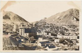 Bird's Eye View, Tonopah, Nevada NV - Early Real Photo RP Postcard