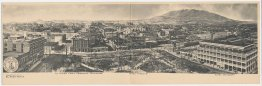 Bird's Eye View, Hotel Angelus, El Paso, TX Texas Pre-1907 RARE DOUBLE Postcard