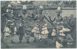 Singhalese Sinhalese Devil Dancers, Ceylon Sri Lanka - Early 1900's Postcard