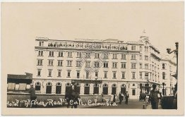 Hotel Alferez Real, Cali, Colombia - Early 1900's Real Photo RP Postcard