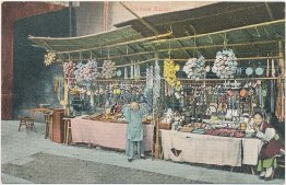 Chinese Bazaar Shop, Kids, China - Early 1900's Postcard