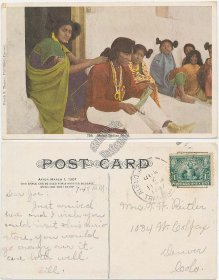 Moqui Indian Girls - 1907 Denver, CO Publisher Postcard