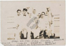 Group of US Navy Sailors, USS North Dakota Ship - Early 1900's Photo Photograph