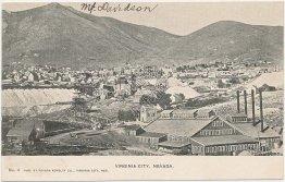 Bird's Eye View, Virginia City, NV Nevada - Early 1900's Postcard