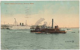 Revere Beach Ferry Boat, Boston, MA - Early 1900's Postcard
