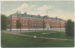 Crossley Hall, Mount Hermon, MA Massachusetts - Early 1900's Postcard