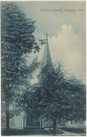 Catholic Church, Frankfort, IN Indiana - Early 1900's Postcard
