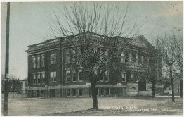 First Ward School, Frankfort, IN Indiana - Early 1900's Postcard