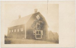 Barn, Lakeview Farm 1911, Canada - Early 1900's Real Photo RP Postcard