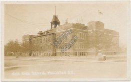 High School, Williston, ND North Dakota - Early 1900's Real Photo RP Postcard