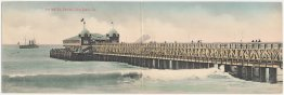 Pier, Sun Pavilion, Long Beach, CA California Pre-1907 RARE DOUBLE Postcard