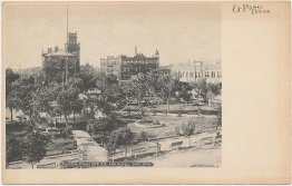 Plaza, Post Office, Hotel Sheldon, El Paso, TX Texas Pre-1907 Postcard