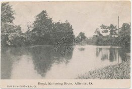 Bend, Mahoning River, Alliance, OH Ohio Pre-1907 Postcard