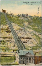 Duquesne Incline R.R., Pittsburgh, PA Pennsylvania - Early 1900's Postcard