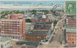 Bird's Eye View, Business Section, Tampa, FL Florida - Early 1900's Postcard