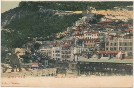 Casemates Barracks, Gibraltar, UK - Early 1900's Postcard