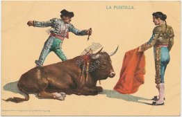 La Puntilla, Bull Fighting, Mexico - Early 1900's Mexican Postcard