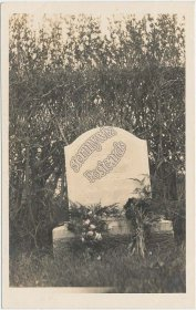 Harriet M. Holden Grave, Tombstone - Early 1900's Real Photo RP Postcard