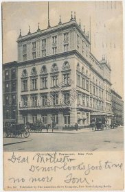 Delmonico's Restaurant, New York City, NY Pre-1907 Postcard