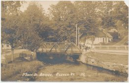 Main St. Bridge, Glover, VT Vermont - Early 1900's Real Photo RP Postcard