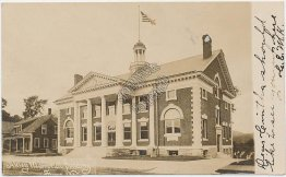 Akley Memorial Building, Stowe, VT Vermont Pre-1907 Real Photo RP Postcard