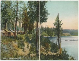 Panoramic View, Hayden Lake, ID Idaho Double Postcard - 2 Early 1900's Postcards