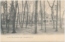 Country Club, Lakewood, NJ New Jersey Pre-1907 ROTOGRAPH Postcard
