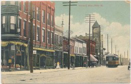 Trolley, River St., Holland, MI Michigan - Early 1900's PCK Series Postcard