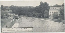 Scene in Hershey Park, Hershey Chocolate Co., PA - Early 1900's Postcard