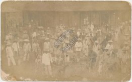 Dog Fighting Market, Philippines, PI, Philippine Islands Early RP Photo Postcard