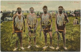 Young Braves, Grass Dance, Brave Indians - 1909 Postcard