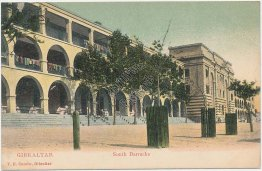 South Barracks, Gibraltar, UK Pre-1907 Postcard