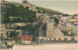Land Port Gate, Gibraltar, UK Pre-1907 Postcard