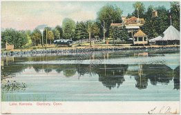 Lake Kenosia, Trolley, Danbury, CT Connecticut Pre-1907 Postcard