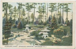 Georgian Court, Japanese Gardens, Lakewood, NJ New Jersey Early 1900's Postcard