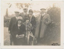 Tourist Group at Park, Funchal, Maderia, Portugal Early 1900's Photo Photograph