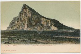 Rock from Santa Barbara, Gibraltar, UK Pre-1907 Postcard
