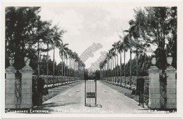 Clubhouse Entrance, Hialeah Park, Miami, FL Florida Real Photo RP Postcard