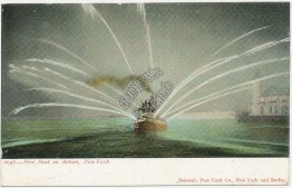 Fire Boat in Action, New York City, NY Pre-1907 Postcard