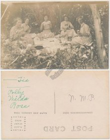 Group of Women on Picnic - Early 1900's Real Photo RP Postcard