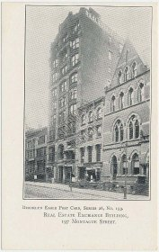 Real Estate Exchange, Montague St., Brookly, NY Eagle Series Pre-1907 Postcard