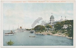 Alexandria Bay, Thousand Islands, St. Lawrence River, Ontario NY Postcard