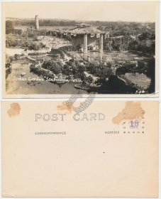 Sunken Garden, San Antonio, TX Texas - Early 1900's Real Photo RP Postcard