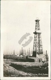 California Oil Wells, CA - Early 1900's Real Photo RP Postcard
