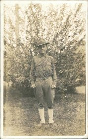 Young US Marine Posing in Uniform - Early 1900's Real Photo RP Postcard