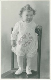 Little Girl Standing on Chair - Early 1900's Real Photo RP Postcard