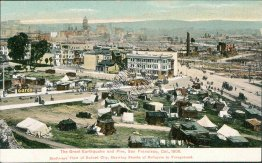 Shacks of Refugees, 1906 Earthquake and Fire, San Francisco, CA Postcard