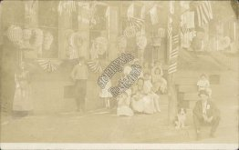 US Flags, Patrotic Decorations, Store - Fourth of July ? Real Photo RP Postcard